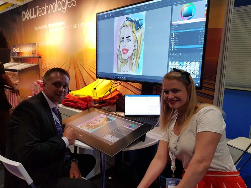 Digital caricatures for Dell at ExCel London Exhibition centre