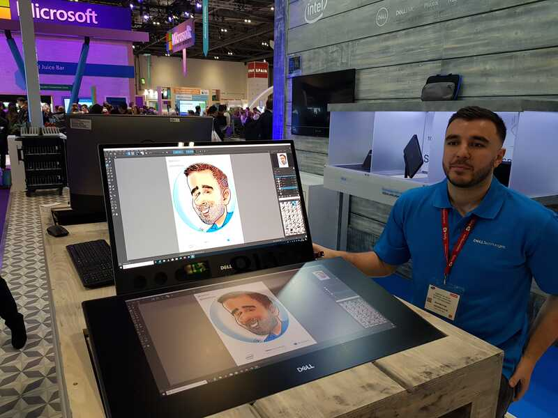 Exhibition digital caricatures