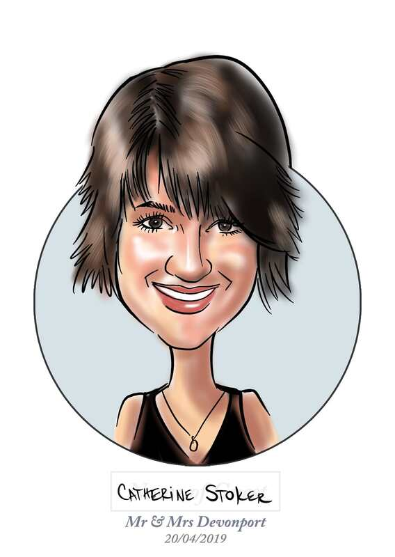 digital live drawing caricatures