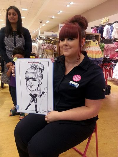 corporate function caricature