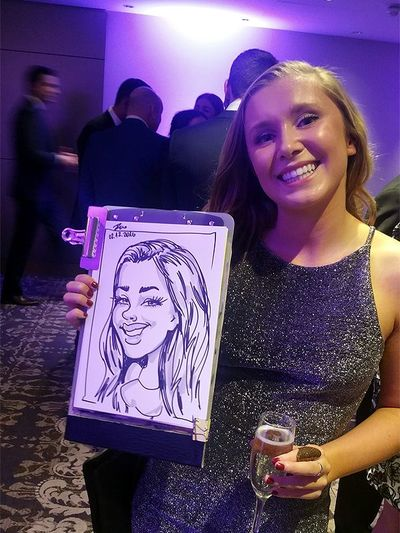 caricature artist on event