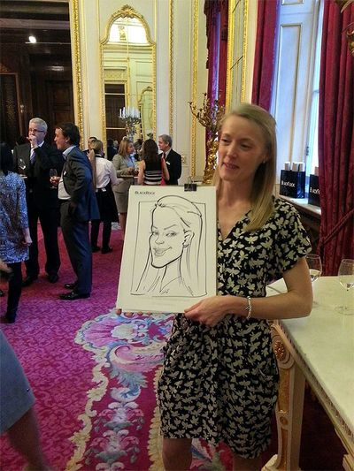 Caricature on a wedding