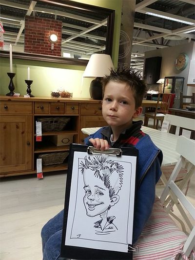 Caricatures at IKEA