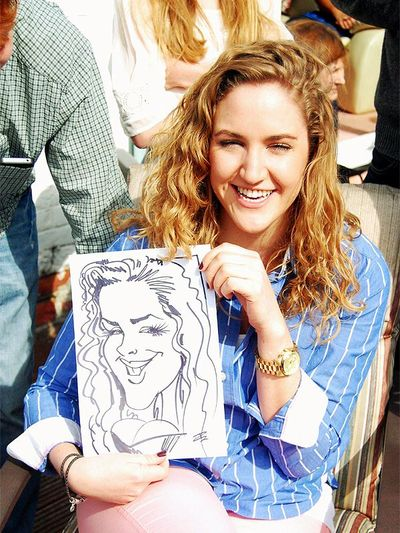 Private party caricature artist