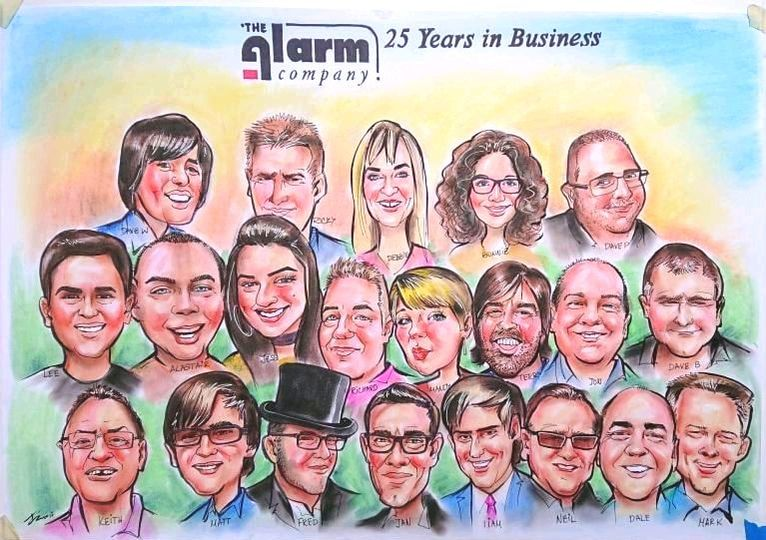 display board caricature
