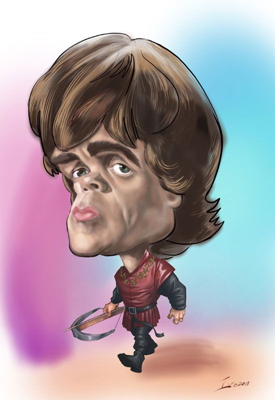Tyrian iPad digital caricature from photo
