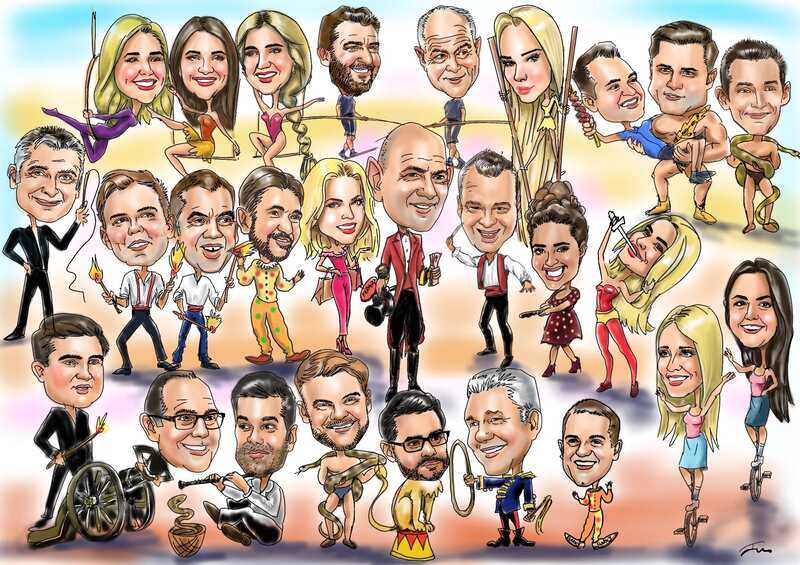 Group digital caricature