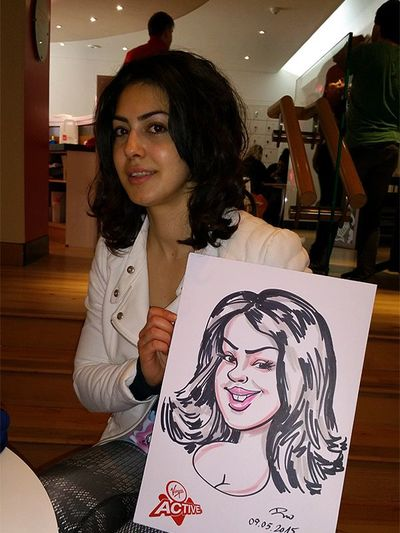 Caricature entertainment at Virgin Active