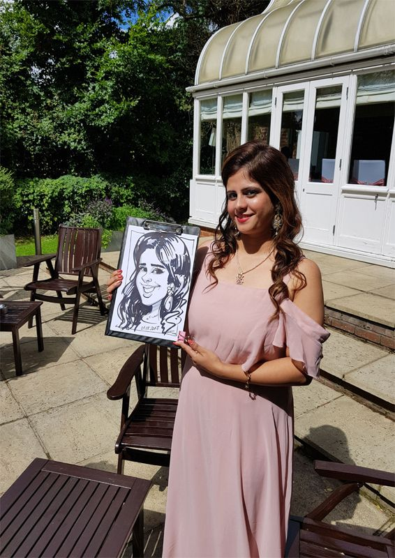 Wedding caricature entertainment